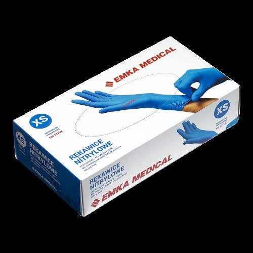 103b4ad465b2ca Nitrylowe rękawice Emka Medical – bezpudrowe: niebieskie - Sklep ...